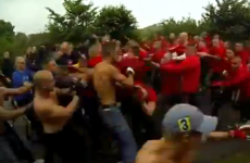 'Now, where are those females?' This Attenborough-narrated hooligan clash is perfect