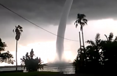 Incredible footage of a waterspout in Florida