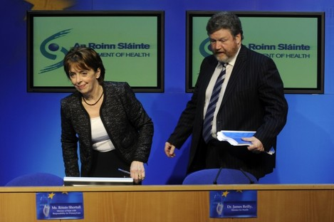 Róisín Shortall and James Reilly in happier times.