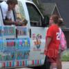 Prankster sells vegetables from an ice-cream van