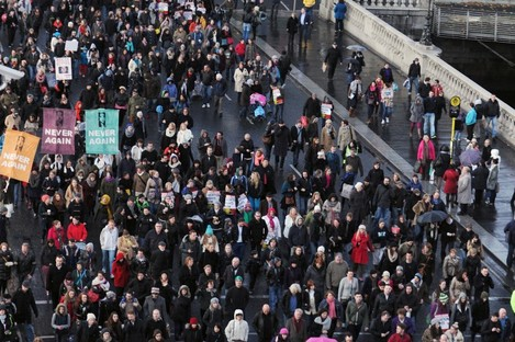 Pro choice protesters in Dublin last year