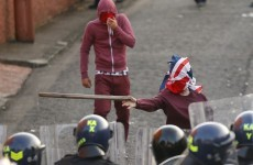 Water cannon used against Belfast rioters as petrol bombs thrown at police