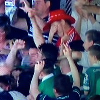 This poor distraught Cork fan stood out like a sore thumb in Limerick