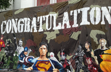 Thai university apologizes for putting Hitler and Superman on banner