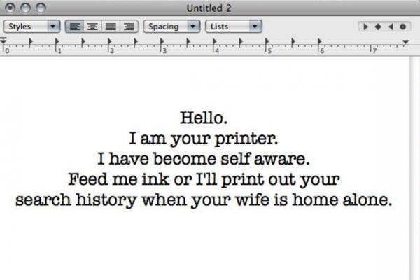 Here's how people are using wireless printers to freak out