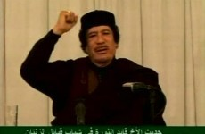 Gaddafi blames foreigners for Libyan unrest as no-fly zone talks continue