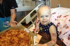 Kid asks for pizza from hospital window... internet sends dozens