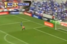 The worst piece of play we've seen in a while graced this Haiti v El Salvador game