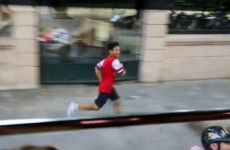A Vietnamese Arsenal fan ran next to the team bus for 5 miles, got invited onboard to hang out