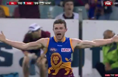 Pearce Hanley lights up the AFL with 2 crackers for the Brisbane Lions