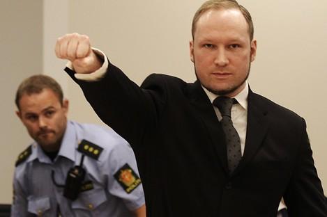Anders Behring Breivik in court during his trial last year