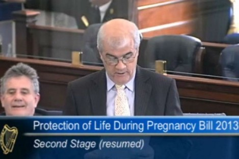Senator Jim Walsh speaking during the debate on the Protection of Life During Pregnancy Bill.