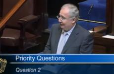 Video: Rabbitte admits Dáil speech on sinkholes is sending him to sleep