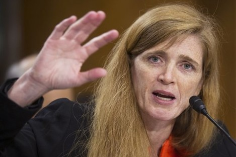 Samantha Power speaks at her confirmation hearing