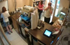 Video: Tip jar swiped in Dublin coffee shop