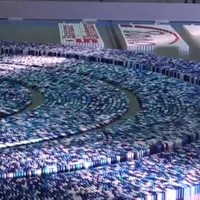 WATCH: Insane dominoes world record display