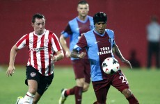 Brave Derry City beaten by Trabzonspor in Europa League