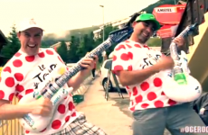 Is this the greatest music video ever recorded at the Tour de France?