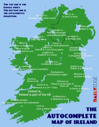 The Google Autocomplete Map Of Ireland The Daily Edge