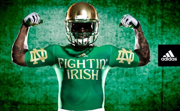 c88265521 Notre Dame football unveils its flashy new  Shamrock Series  uniform