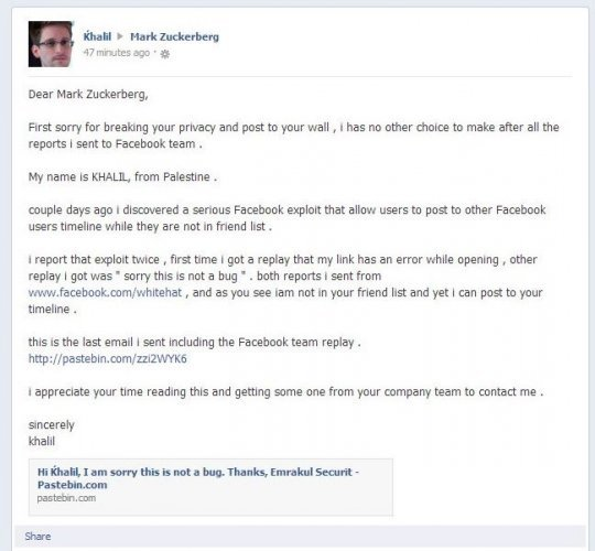 Mark Zuckerberg's Facebook page was hacked to expose