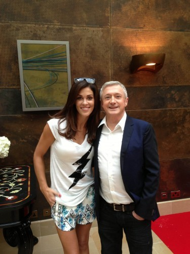 Xpose on TV3 Glenda Gilson and Louis Walsh
