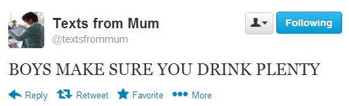drink plenty
