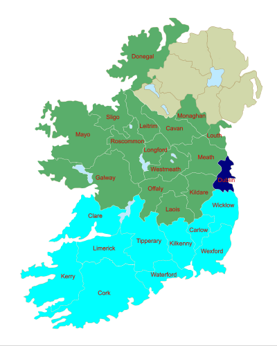 Map Of Ireland Midlands.Dublin A Three Seater In Ireland S New Look European Constituency Map