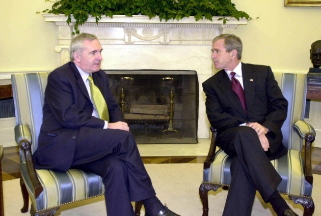 BERTIE AHERN WASHINGTON VISIT 2001