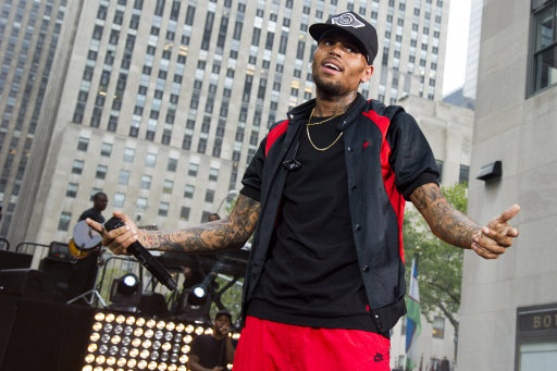 Chris Brown Performs On NBC's Today - New York