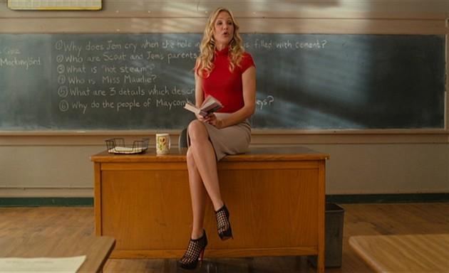 Girl teacher wedgie