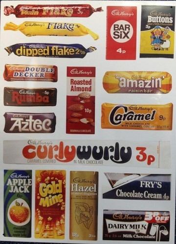 How Many Of These Old Cadbury Wrappers Do You Remember