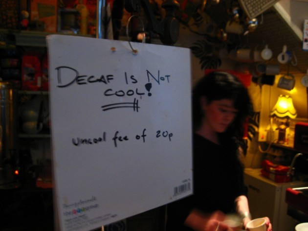 Decaf is not cool!