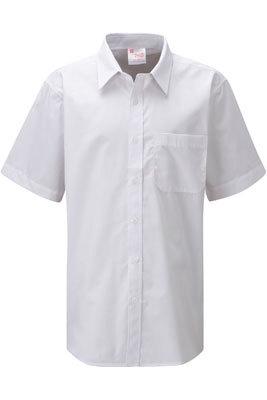 ziggys bmzsh bs ss boys non iron short sleeve school shirt