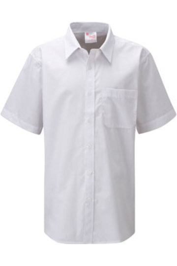 ziggys bmzsh bs ss boys non iron short sleeve school shirt