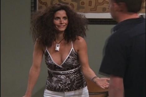 Monica with friz hair