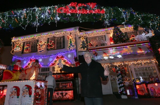 Christmas lights. Des Murphy pictured