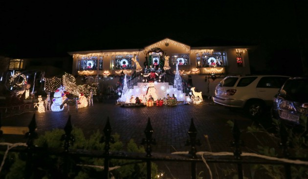 Christmas lights. A house in Dalkey li