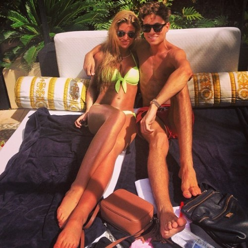 Chilling by the pool. Versace Versace Versace @missamywillerton