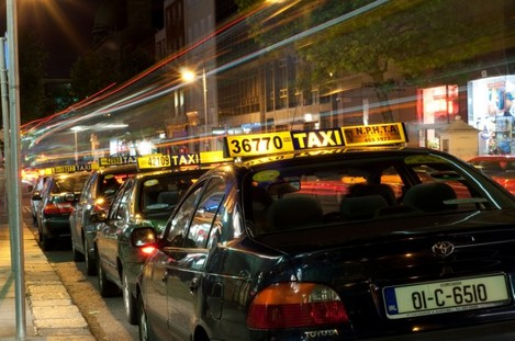 Taxi Row Light Trail, Dawson Street, Dublin