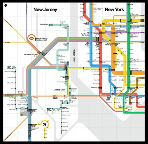 Mta Subway Map Permission Of Usage.They Ve Made A Brand New Nyc Subway Map For The Super Bowl The42