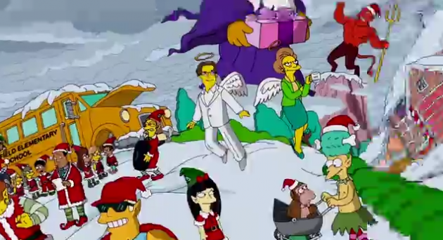 Simpsons Christmas.This Year S Simpsons Christmas Opening Sequence Features Mrs