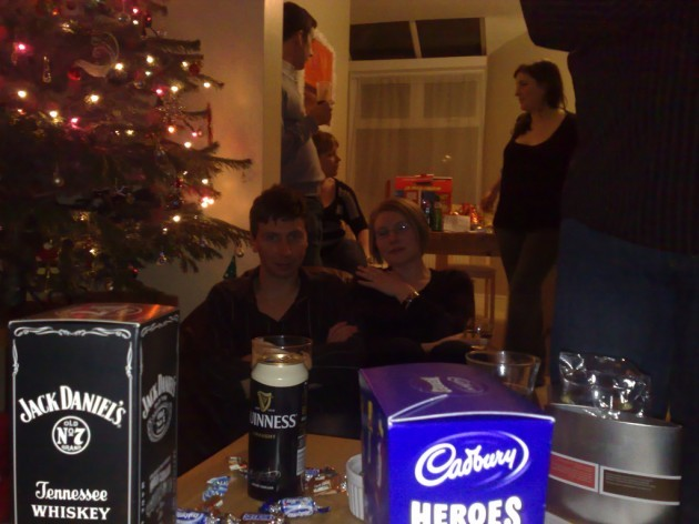 Dan, Emma and a can of Guinness