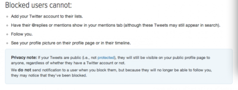 Twitter Blocking rules old