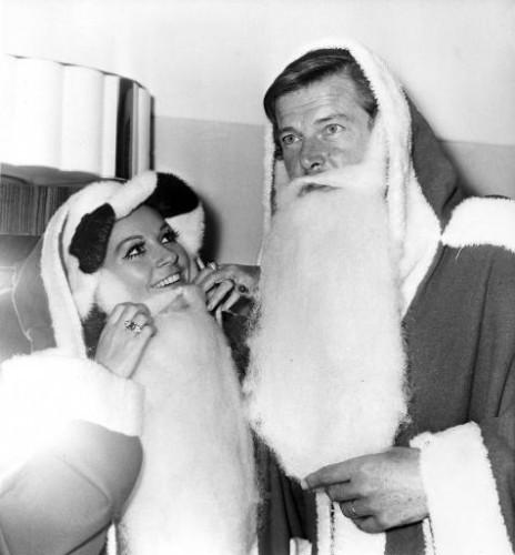 Roger Moore Playing Santa 1969