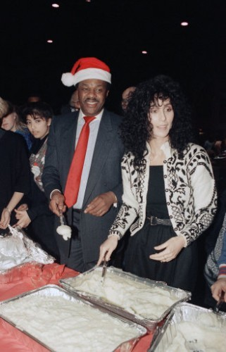 Cher and Marion Barry