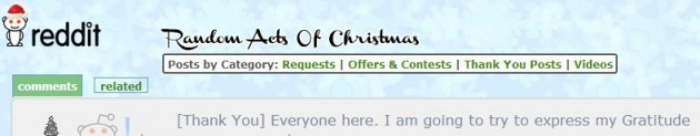 This online forum helps strangers save Christmas for