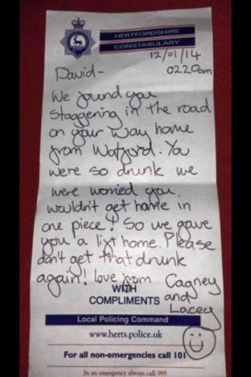 How Police deal with drunks here in the UK. - Imgur