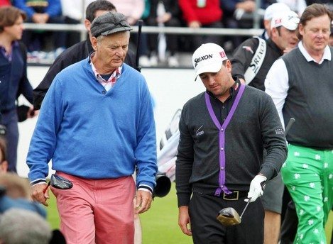 Bill Murray and Graeme McDowell 27/6/2012