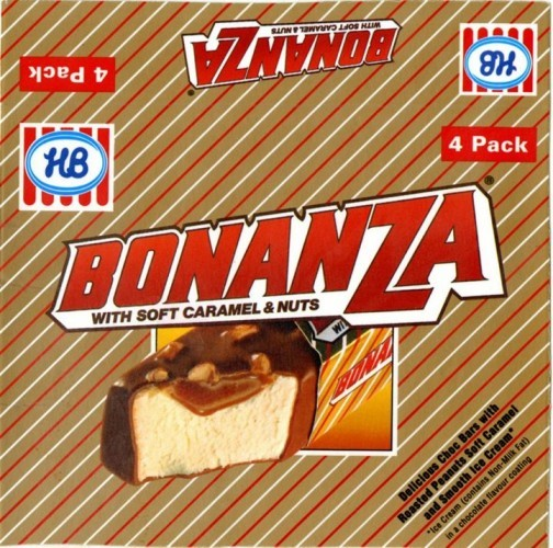 HB Bonanza Ice Cream Wrapper 1988